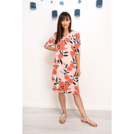 Sandwich Clothing Bold Floral Print Dress - Pink