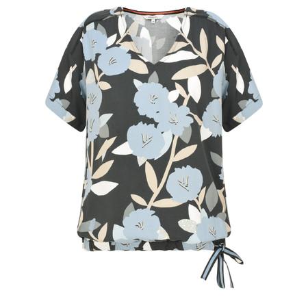 Sandwich Clothing Floral Print Drawstring Top - Grey