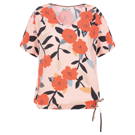 Sandwich Clothing Floral Print Drawstring Top - Pink
