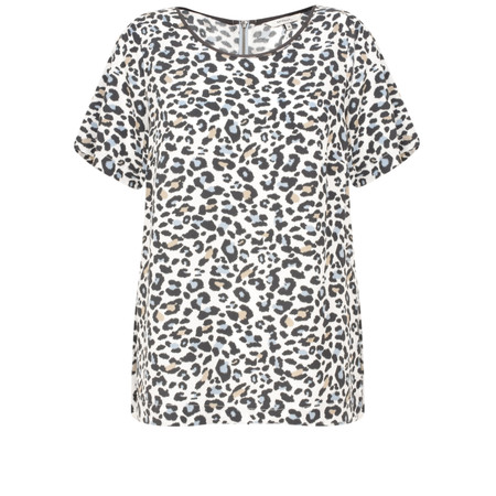Sandwich Clothing Leopard Print Viscose Top - White