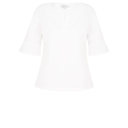 Sandwich Clothing Ruffle Sleeve Top - White