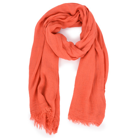 Sandwich Clothing Solid Crinkle Scarf - Red