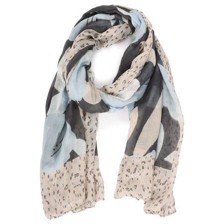 Sandwich Clothing Modal Woven Floral Scarf - Blue
