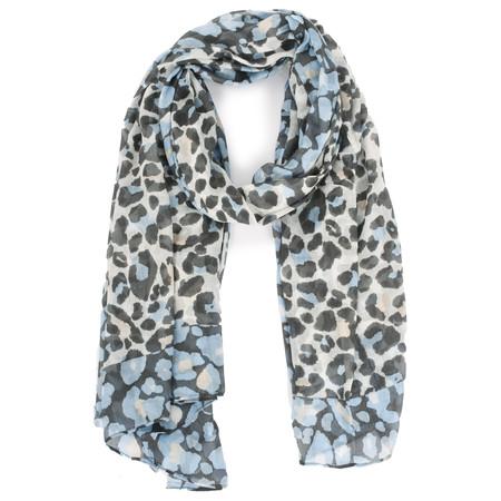 Sandwich Clothing Modal Woven Leopard Scarf - Blue