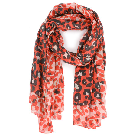 Sandwich Clothing Modal Woven Leopard Scarf - Red