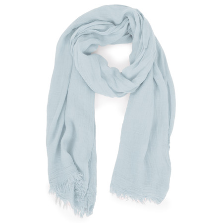 Sandwich Clothing Solid Crinkle Scarf - Blue