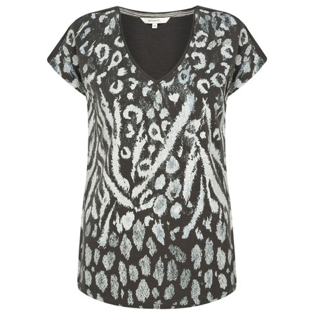 Sandwich Clothing Leopard Print Tee - Grey