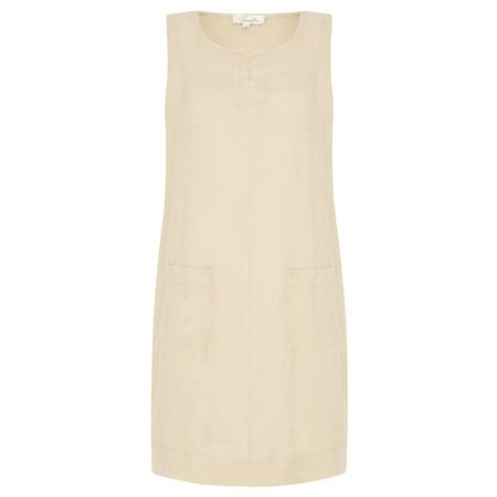 Fenella  Laural Linen Easy Fit Sleeveless Dress - Beige