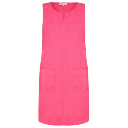 Fenella  Laural Linen Easy Fit Sleeveless Dress - Purple