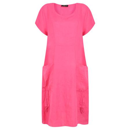 Fenella  Allegra Easy Fit Dress With Drawstring - Purple