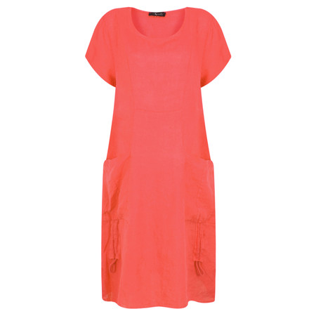 Fenella  Allegra Easy Fit Dress With Drawstring - Orange