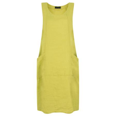 Fenella  Livia Easy Fit Sleeveless Linen Dress - Green
