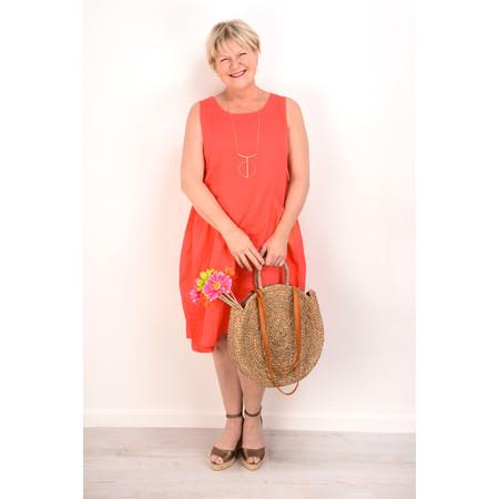 Fenella  Livia Easy Fit Sleeveless Linen Dress - Orange