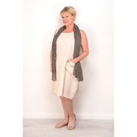 Fenella  Livia Easy Fit Sleeveless Linen Dress - Beige
