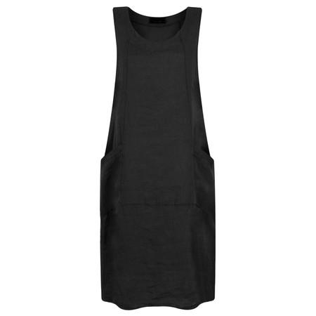 Fenella  Livia Easy Fit Sleeveless Linen Dress - Black