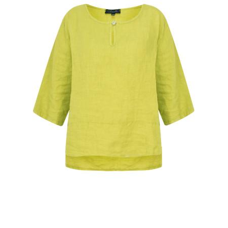 Fenella  Aria EasyFit Boxy Linen Top - Green