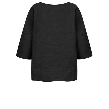Fenella  Aria EasyFit Boxy Linen Top - Black