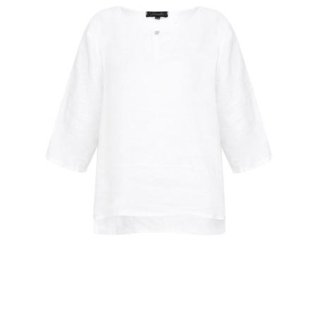 Fenella  Aria EasyFit Boxy Linen Top - White