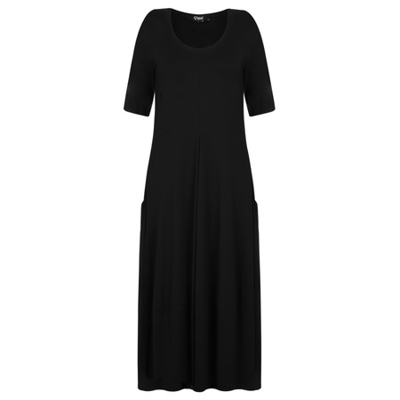 Q'neel  Jersey Balloon Dress - Black