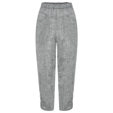 Q'neel Cropped Linen Trousers - Blue