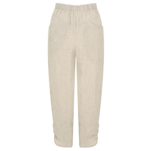 Q'neel Cropped Linen Trousers