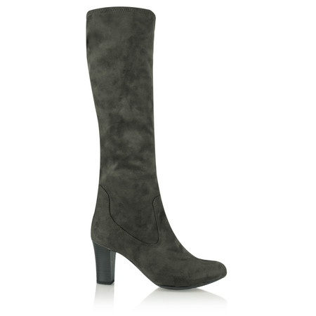 Caprice Footwear Aliz Long Stretch Boot - Grey