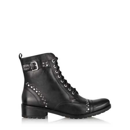 Caprice Footwear Elyse Biker Ankle Boot - Black