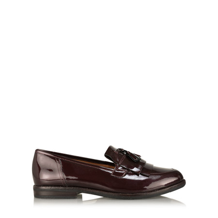 Caprice Footwear Berta Patent Loafer Shoe - Purple