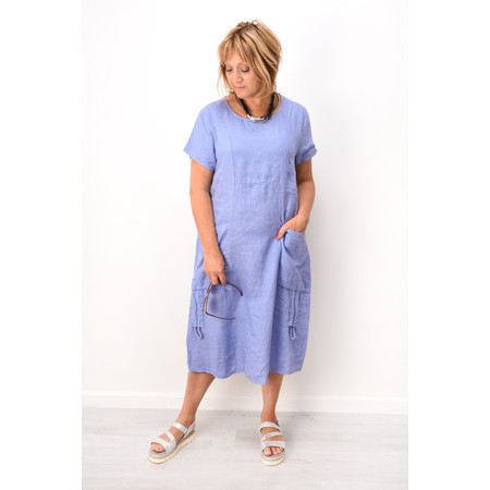 Fenella  Allegra Easy Fit Dress With Drawstring - Blue