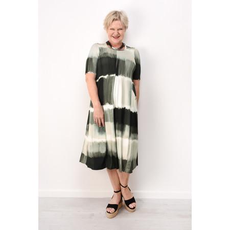 Q'neel Printed Tie-Dye Jersey Dress - Black