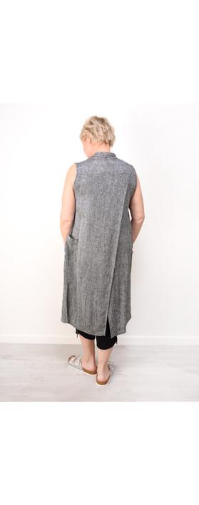 Q'neel Long Waterfall Waistcoat Grey