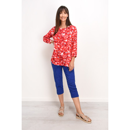 Adini Orly Print Ria Top - Red