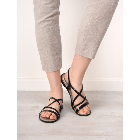 Tamaris  Cindy Strappy Flat Sandal - Black