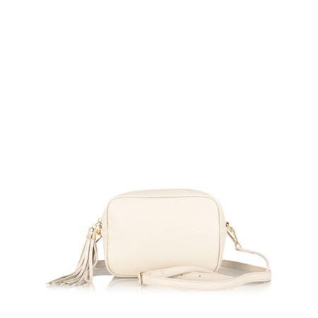 Gemini Label Perca Shoulder Bag - White