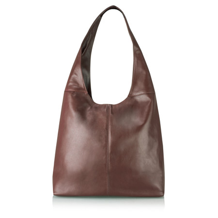 Gemini Label Roana Slouchy Leather Hobo Bag - Brown Antic