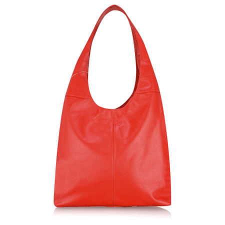 Gemini Label Roana Slouchy Leather Hobo Bag - Red