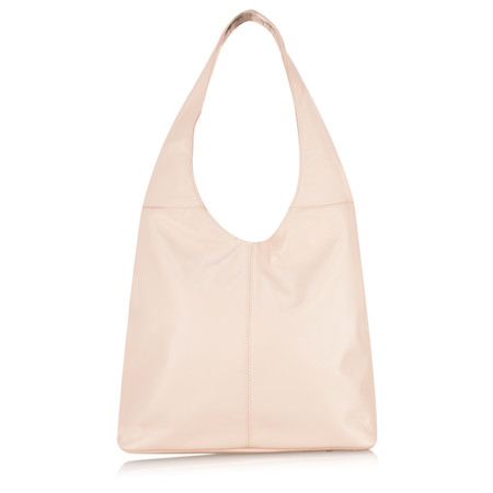 Gemini Label Roana Slouchy Leather Hobo Bag - Pink