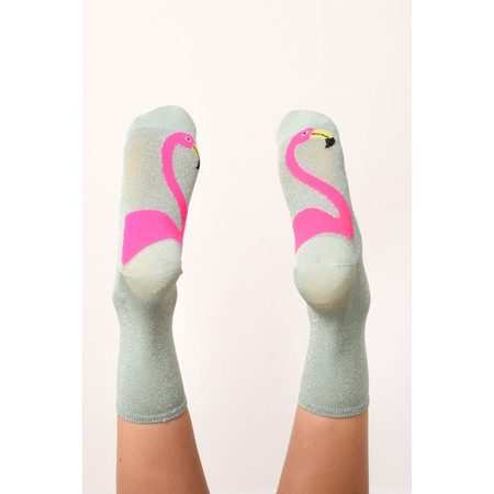 Universe of Us Flamingo Socks - Turquoise