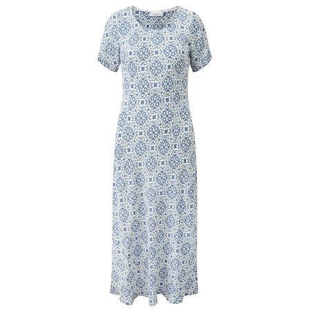Adini Santorini Print Dress - Blue