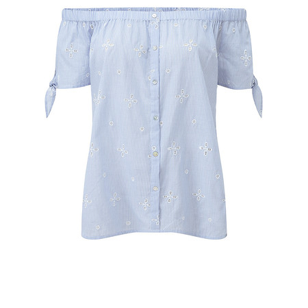 Adini Boardwalk Shiffley Polly Blouse - Blue