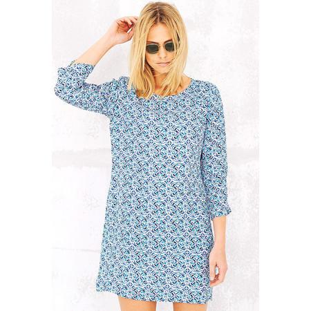 Adini Marbella Print Malaga Dress - Blue