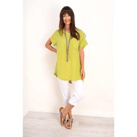 Fenella  Agata Oversized Linen Top  - Green