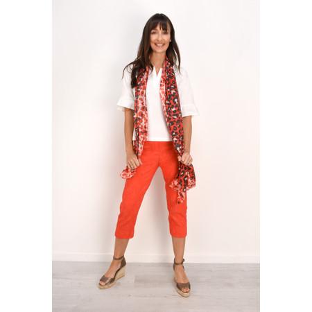 Robell Trousers Marie 07 Jacquard Trouser - Orange
