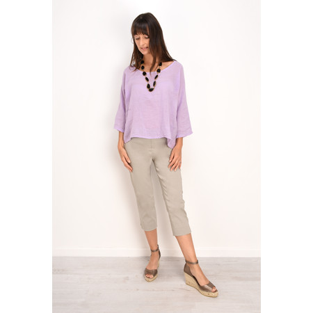 TOC Billie Linen Mix Easy Fit Top - Purple