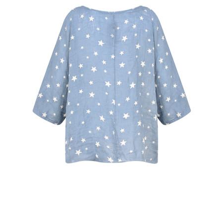 TOC  Astra Linen Star Top - Blue