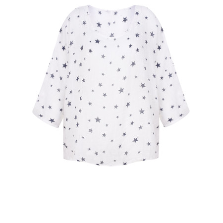 TOC  Astra Linen Star Top - White