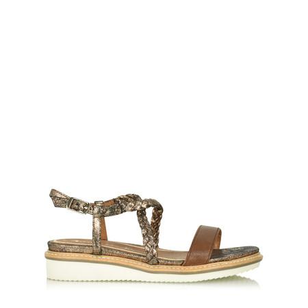 Tamaris  Kara Flatform Sandal - Brown