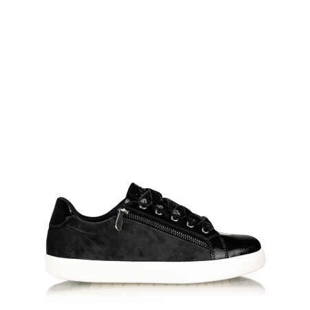 Marco Tozzi Gisela Velour Trainer Shoe - Black