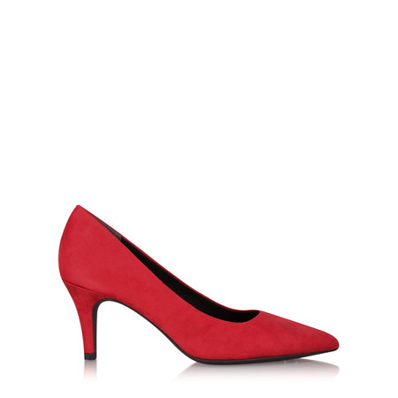 Marco Tozzi Leonie Kitten Heel Court Shoe - Red
