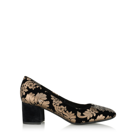 Marco Tozzi Sophia Brocade Court Shoe - Black